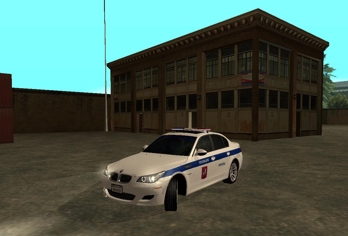 Bmw m5 для gta sa гражданская и полицейская